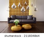 modern interior room with a... | Shutterstock . vector #211834864