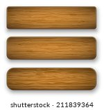 vector plate from wood | Shutterstock .eps vector #211839364