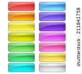 web buttons set | Shutterstock .eps vector #211841758