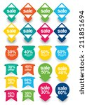 flat web element set | Shutterstock .eps vector #211851694