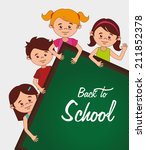 school design over white... | Shutterstock .eps vector #211852378