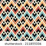 seamless vector geometric... | Shutterstock .eps vector #211855336