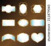 a set of open work frame vector ... | Shutterstock .eps vector #211879060