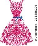 wedding design dress   Shutterstock .eps vector #211886206