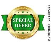 Green Round Special Offer Badg...