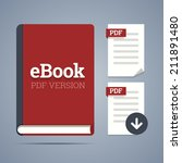 ebook template with pdf label...