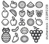 fruit icon black | Shutterstock .eps vector #211892158