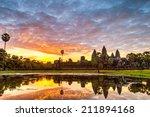 Status Silhouette Of Angkor Wa...