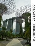 singapore   may 12  gardens by... | Shutterstock . vector #211897870