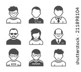 users avatars. occupation and... | Shutterstock .eps vector #211898104