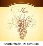 bunch of grapes for label of... | Shutterstock .eps vector #211898638