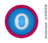 vector alphabet  letter 0 ... | Shutterstock .eps vector #211900558