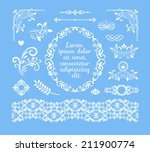 seamless vector vintage floral... | Shutterstock .eps vector #211900774