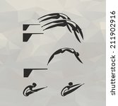 swimmer icons. vector format | Shutterstock .eps vector #211902916