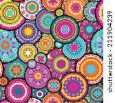 moroccan vector pattern  ... | Shutterstock .eps vector #211904239