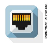 Network Socket Icon With Long...