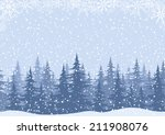 Winter Woodland Landscape With...