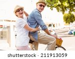 happy mature couple going for a ... | Shutterstock . vector #211913059