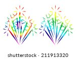 colorful fireworks isolated on... | Shutterstock . vector #211913320