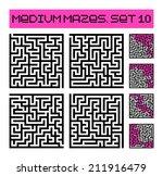 medium mazes set 10 | Shutterstock .eps vector #211916479