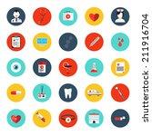 set of flat line iconsl... | Shutterstock .eps vector #211916704