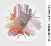 abstract 3d geometric... | Shutterstock .eps vector #211922353