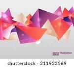 triangular abstract background. ... | Shutterstock .eps vector #211922569