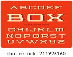 geometric volume wide font with ... | Shutterstock .eps vector #211926160