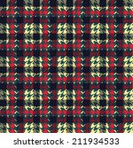 hounds tooth seamless pattern | Shutterstock .eps vector #211934533