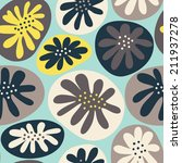 seamless pattern with abstract... | Shutterstock .eps vector #211937278