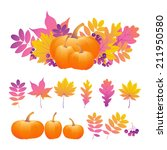 autumn illustration. background ... | Shutterstock .eps vector #211950580