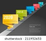 timeline paper origami design...   Shutterstock .eps vector #211952653