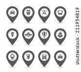 transport icons set. | Shutterstock .eps vector #211954819
