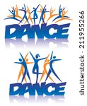 word dance with dance icons... | Shutterstock .eps vector #211955266