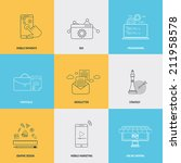 set of flat line icons concepts ... | Shutterstock .eps vector #211958578