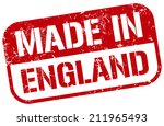 made in england stamp | Shutterstock .eps vector #211965493