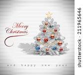 christmas tree background  ... | Shutterstock .eps vector #211965646