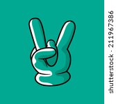 rock and roll hand sign. vector ...   Shutterstock .eps vector #211967386