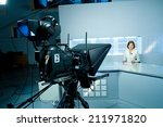 young television announcer at... | Shutterstock . vector #211971820