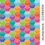 pattern of colorfull honeycomb... | Shutterstock .eps vector #211985404