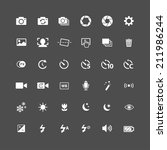 camera icon set  each icon is a ... | Shutterstock .eps vector #211986244