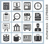 financial and business icons | Shutterstock .eps vector #211986868