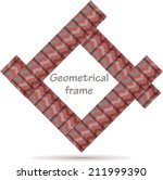 abstract geometrical frame   Shutterstock .eps vector #211999390