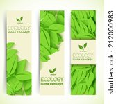 flat eco leaf vertical banners... | Shutterstock .eps vector #212000983