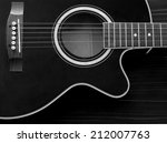 Acoustic Guitar With Strings In ...