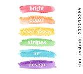 watercolor elements for design. ...   Shutterstock .eps vector #212013289
