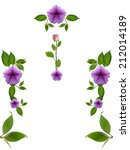 floral frame on white background | Shutterstock . vector #212014189