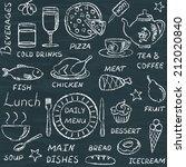 chalkboard seamless pattern... | Shutterstock . vector #212020840
