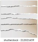 torn paper vector | Shutterstock .eps vector #212021659