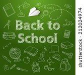 back to school text end school... | Shutterstock .eps vector #212024974
